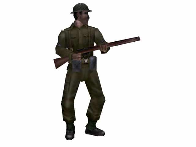 3d model of a Tommy with Enfield rifle