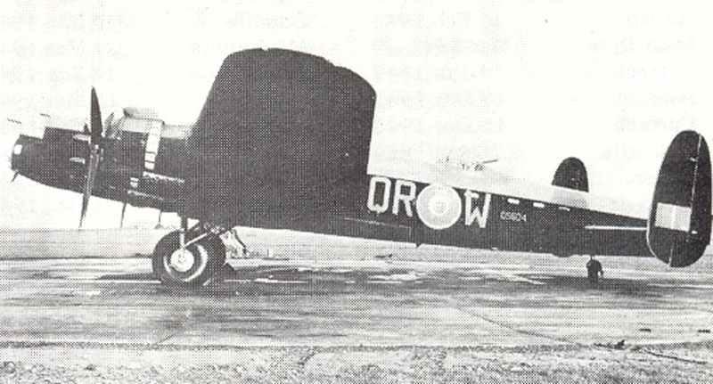 Lancaster bomber Mk II of No 61 Squadron