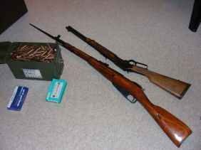Mosin-Nagant and Marlin carbine