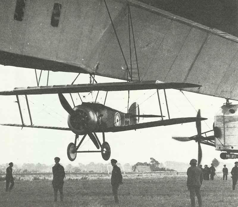 Sopwith Camel on airship