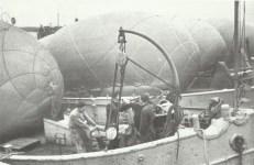 Barrage balloons and anti-aircraft guns