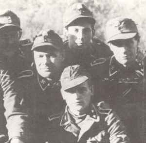 NCOs of Latvian 19. Waffen-SS division