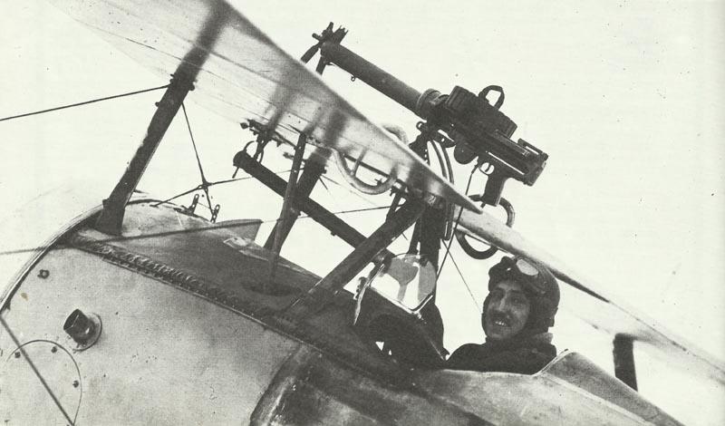 Lewis machine-gun on Nieuport