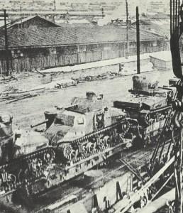 M3 tanks on the railway near Murmansk