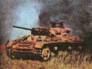 Panzer III under fire at Kursk