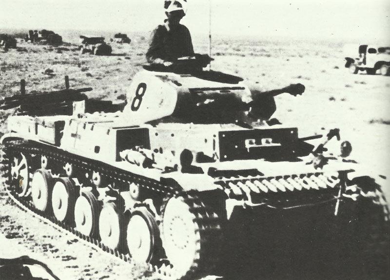 Panzer II of Afrika Korps