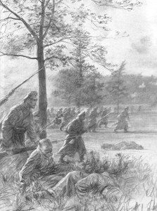 Russian infantry charge