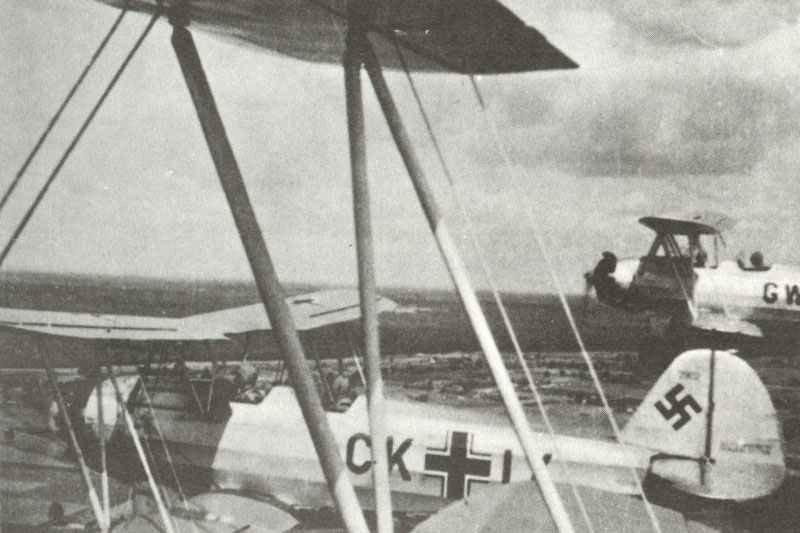 Focke-Wulf Fw44C primary tandem training biplanes
