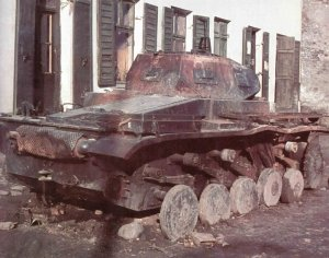 Burned-out Panzer II