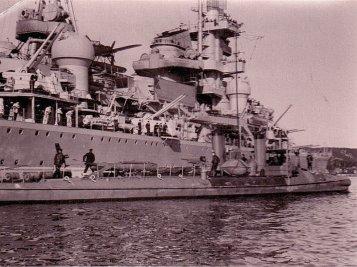 heavy cruiser Admiral Hipper in the port of Kristiansand