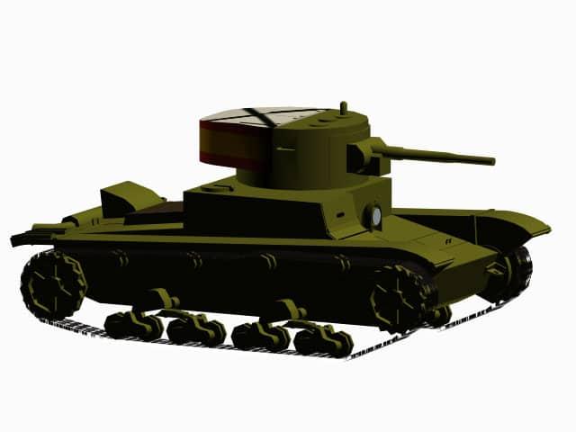 3D model T-26B