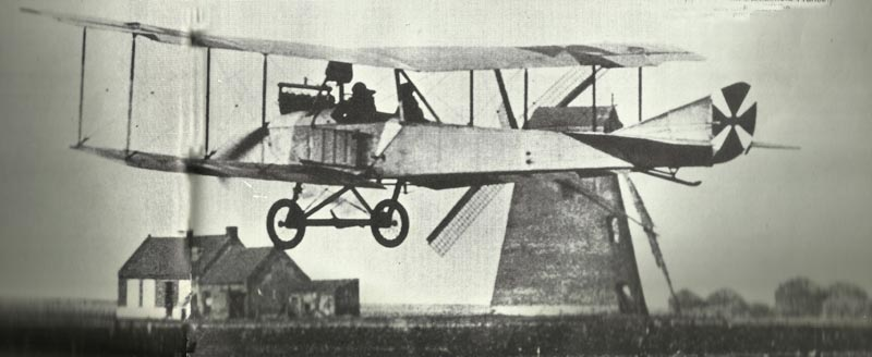 Albatros-B-type taking off from an airfield