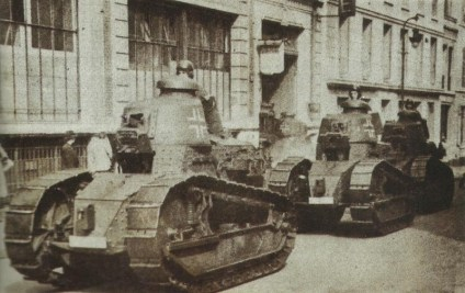 Captured FT-17 in use by German troops in WW2