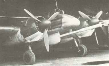 Hs 129B-2 with a mockup of a 75mm BK 7.5