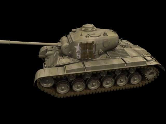 3D model M26 Pershing