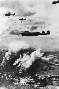Bombing attack by Pe-2