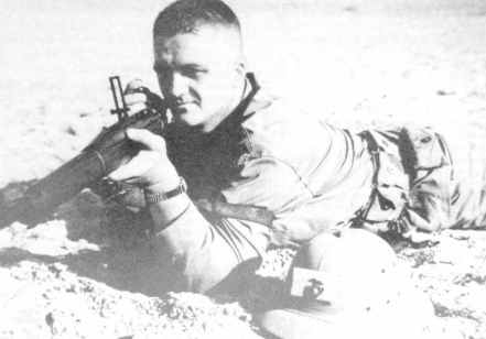 US Marine recruit zeroes his .30-cal. M1903 Springfield