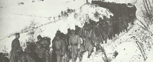Austro-Hungarian troops advance through Serbia