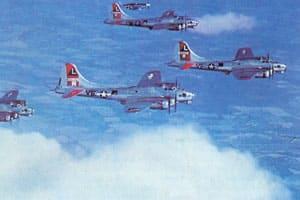B-17 formation
