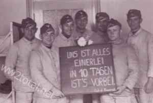 German soldiers happy to be dismissed from Wehrmacht