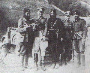 Chetniks with German officers