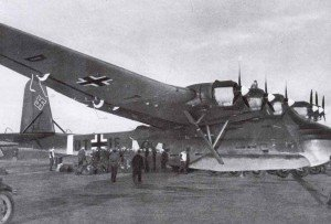 German soldiers are embarking a Me 323 Gigant transport plane