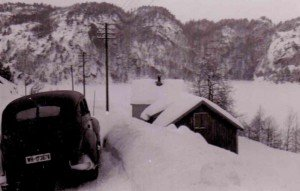 Wehrmacht car in the snow