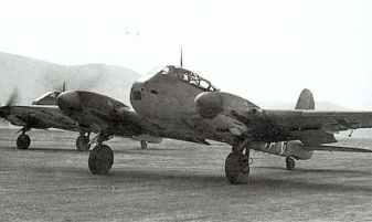 Me 210 of III/ZG 1, seen operating in Tunisia