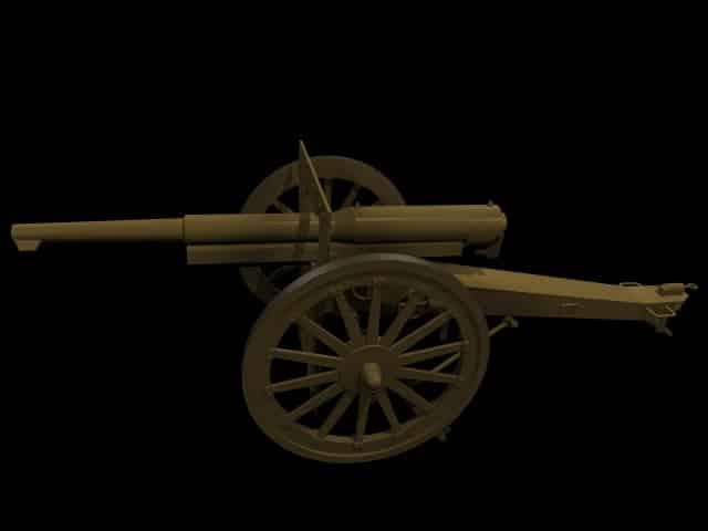 3D Model Canon de 75 mle 1897.