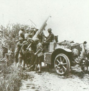 75-mm mle 1897 in use as anti-aircraft gun