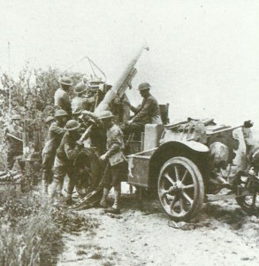 75-mm mle 1897 in use as anti-aircraft gun