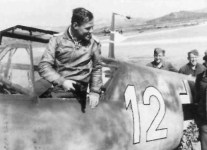 Me 109 on Sicilian airfield