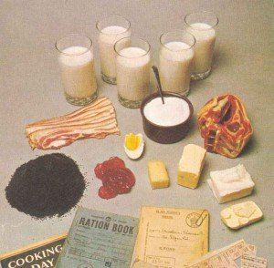 British weekly war ration for one person