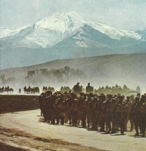 Advance of German infantry in Greece
