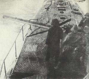 Attacking German U-boat