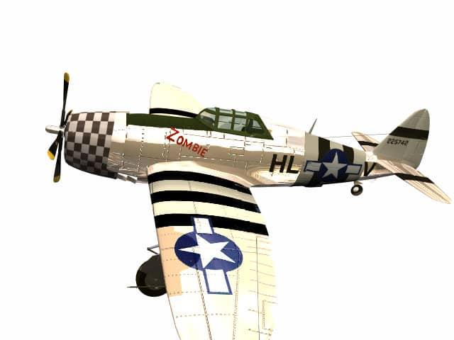 3d model Republic P-47 Razorback Thunderbolt