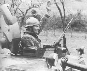 Yugoslav tank commander