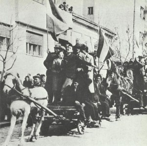 Serbs celebrate in Belgrade the overthrow of the government