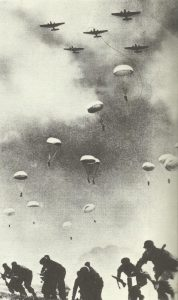 German paratroopers land on Crete.