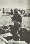 Italian artillery bombards Tobruk