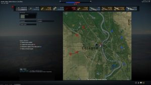 Map with bases in War Thunder