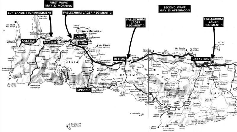 map airborne invasion of Crete