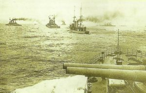 Destroyers of German High Seas Fleet in the North Sea.
