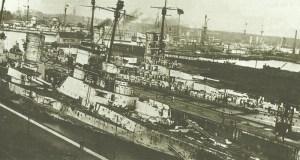 Damage inflicted on the German battlecruiser 'Seydlitz