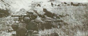 Bulgarian machine-gun teams in action
