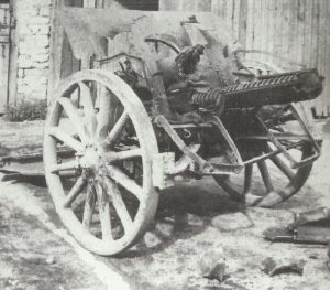 tube detonation destroyed German 105mm howitzer