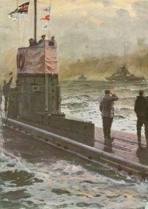 U-boat greets battlecruisers