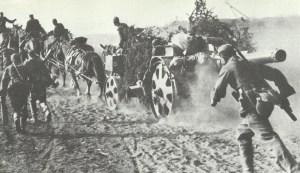 horse-drawn heavy artillery