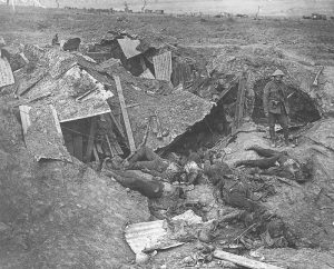 German dead at their MG post