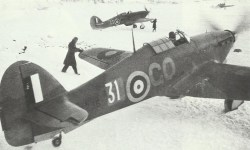 Hurricane fighters airfield Vaenge in Northern Russia